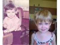 A múlt és a jelen. Apa és lánya egyidősen! :)