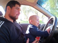anya nézd, vezetek!
