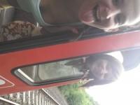Vonat elé kidőlt egy fa a sínre,egy selfie  belefért amíg tovább indultunk!