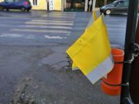 Zászló a zebrán