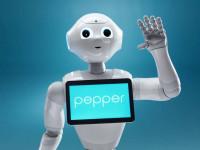 Vendégünk Pepper a humanoid robot.